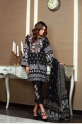Khas  Moltenmidnigh 3-Pcs Un Stitched Lawn Suit KCE-3057