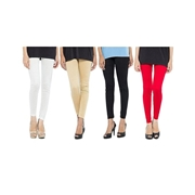 Wear Bank Pack of 4 Women Cotton Tights WT-05
