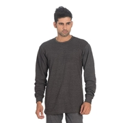 Wear Bank Dark Grey Cotton Sweat Shirt for Men - TH-61