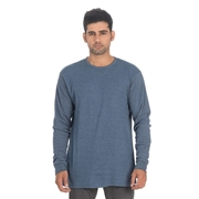 Wear Bank Blue Cotton Sweat Shirt for Men - TH-66