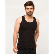 Wear Bank Pack of 2 - Black & White Cotton Vests For Men