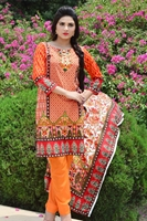 Sana Samia Net Collection Orange USS17-SLC-006B