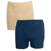 Wear Bank Pack of Two Blue and Fawn Men Boxer BX-220