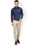 Buy Envogue Apparel Hancock Navy Slim Fit Formal Shirt  online