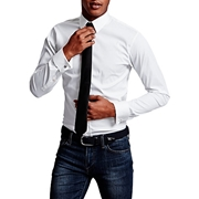 Envogue Apparel Formal White Shirt With black Pencil Tie