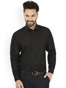 Envogue Apparel Black Standard Fit Formal Shirt
