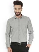 Envogue Apparel Gray Standard Fit Formal Shirt