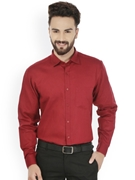 Envogue Apparel Maroon Standard Fit Formal Shirt