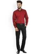Buy Envogue Apparel Maroon Standard Fit Formal Shirt  online