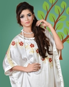 Silwat Fashion White Cape with Trouser