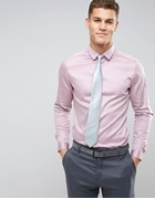 Formal Shirt In Pink With Grey Tie