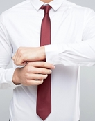 Buy Formal Shirt In White With MaroonTie  online