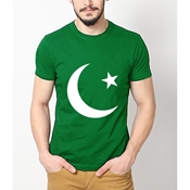 Buy 14th August Green T-Shirt  online