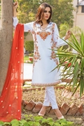 Motifz 1656-white embroidered lawn unstitched
