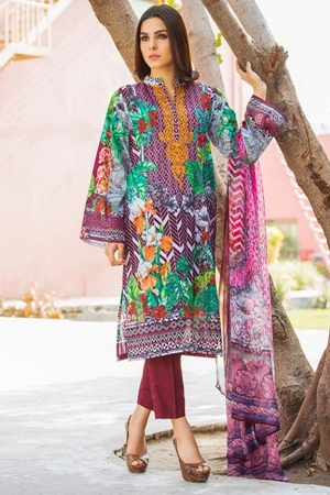 dd96408cba Motifz 1661-plum embroidered lawn unstitched shopping in Pakistan