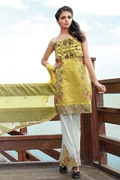 Motifz 1578-citron-yellow embroidered lawn unstitched