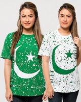 Mardaz Pack of 2 14 august tshirt for womens