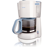 Glass White blue Coffee maker