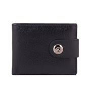 Men Soft Leather Wallet with Magnetic Button Closure