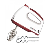 Jamsons JS-444 Egg Beater & Hand Mixer - White &  Red