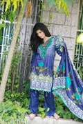 Lala Classic Cotton Print Navy Blue UMS17-LCO-005A