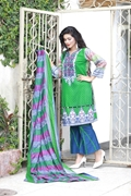 Lala Classic Cotton Print Green UMS17-LCO-007A