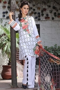 Motifz 1663-White Embroidered Lawn Unstitched