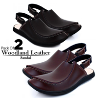 Pack Of 2 Woodland Leather Sandal