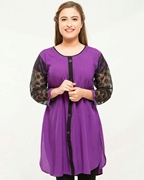 Stylish Casual Kurti Purple For Women