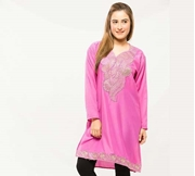 Pink Embroided Kurti For Women
