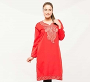 Red Embroided Kurti For Women