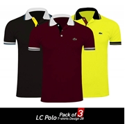 Pack of 3 LC Polo T-shirts Design 28