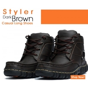 Styler Dark Brown Casual Long Shoes