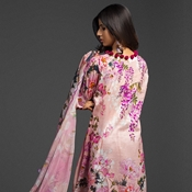 Buy A-08 Ayana Tea Pink Unstitched 3PC  online