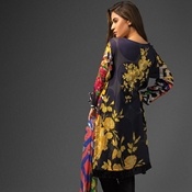Buy A-02 Ayana Black Blosom Unstitched 3PC  online