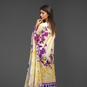 Buy A-07 Ayana Camel Unstitched 3PC  online