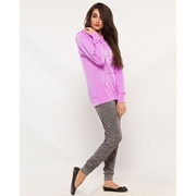 Wear Bank Women Grey French Terry Trouser FT-44