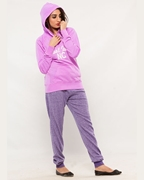 Wear Bank Purple Women Pull Over Hoodie WH-02