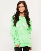 Wear Blue Green  Women Pull Over Hoodie WH-05