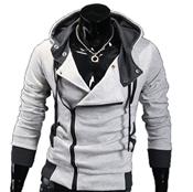 Buy Stylish Fleece Side Zipper Hoodie  online