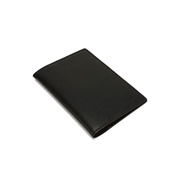 House of Leather Black Leather Passport cover With credit card Slots LP-28