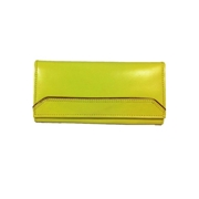 House of Leather Yellow Leather Women Leather Purse WP-401