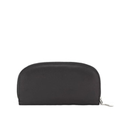 House of Leather Black Women Leather D-Shape Purse