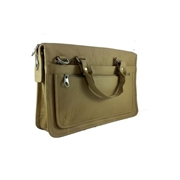 House of Leather Beige Genuine Leather 12.5 inch Laptop Bag LB-12BG