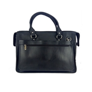 House of Leather Black Genuine Leather 15.6 inch Laptop Bag - LB-15BL