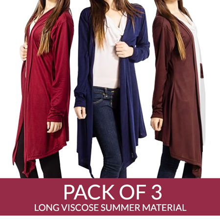 Buy Pack OF 3 Long Stylish Shrugs- Viscose Summer Material  online