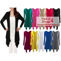 Pack OF 4 Long Stylish Shrugs- Viscose Summer Material