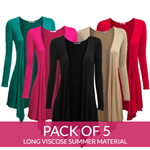 Pack OF 5 Long Stylish Shrugs- Viscose Summer Material
