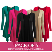 Buy Pack OF 5 Long Stylish Shrugs- Viscose Summer Material  online