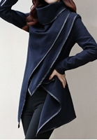 Women Latest Poncho Style Outerwear Cardigan Blue